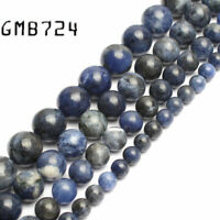 wholesale Natural Stone Beads Old Blue Sodalite Round Loose Beads For Jewelry