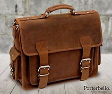 Leather Satchel Briefcase Laptop Messenger Bag (RRP £129.99)