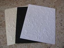 Cuttlebug DIVINE SWIRLS embossed card panel