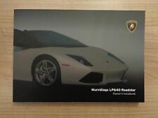 Lamborghini Murcielago LP640 Roadster Owners Handbook/Manual