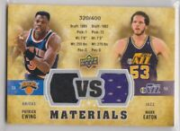 2009 Upper Deck VS Dual Materials #VS-EE Mark Eaton Patrick Ewing Utah Jazz