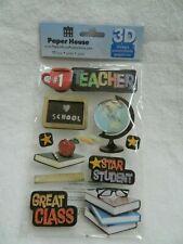 Paper House Productions 11 pc 3D stickers - #1 Teacher