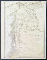 1880 John Bartholomew Large Antique Map of Northern Syria