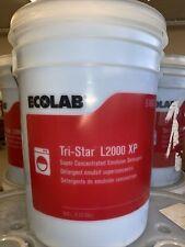 5 Us Gallon Bucket Ecolab 6100031 Tri Star L2000 Xp Emulsion Detergent Sealed