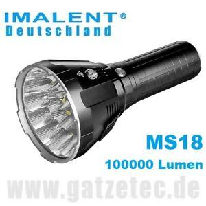 2021 Imalent MS18 LED Taschenlampe 100000 Lumen Weltrekord hellste Taschenlampe