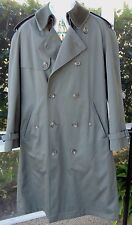 J.G. Hook Men's Green Double Breasted Trench Coat/Wool Button In Liner -40S