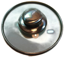Glass Pot Lid with Stainless Steel Rim and Handle 5 3/4""