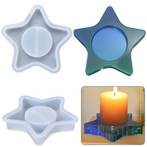 Stern Epoxy Silikon Schimmel Kerze Inhaber Home Dekoration DIY Handwerk Zubehör