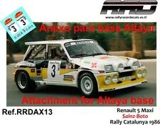 DECAL/CALCA 1/43; ANEXO Renault 5 Maxi; Sainz-Boto; Rally Catalunya 1986