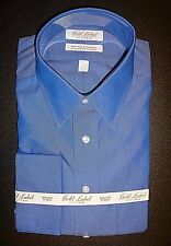 Roundtree Yorke Gold Label Fitted Dress Shirt * 15.5 - 34 * Blue French Cuff NWT