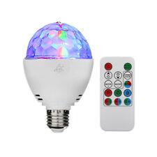 3W E27 Disco Ball Lamp RGB Rotating LED Strobe Party Bulb Stage Light + Remote