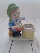 Vintage Jasco 1978 Hand Painted Porcelain Christmas Luvkins Drummer Boy Figurine