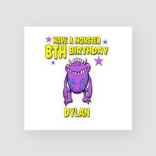 Personalised Handmade 8th Birthday Card Monster Eighth Son Nephew Grandson Alien