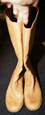 Splendid tan size 8.5 knee high leather with gray zipper super cute boots