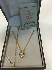 KREMENTZ Gold Tone Necklace & Heart Pendant 1345YZ w/Box