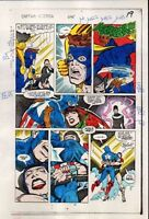 1984 Captain America 295 page 19 Marvel Comics original color guide art: 1980's