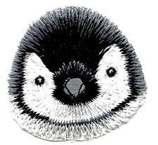 PENGUIN - Penguin Face-Polar Animal-Iron On Embroidered Applique