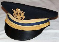NICE VIETNAM ERA ARMY CHEMICAL CORPS OFFICER DRESS BLUE VISOR CAP BY FLIGHT ACE