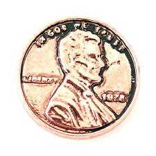 Button Click Druckknopf DG8114 Münze Bronze - kompatibel mit Chunk Armband