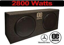 """Doppel 12"""" 2800 Watts Eingebaut Amp Active Dünn Flach box Mercedes Cabrio"""