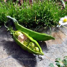 Miniature Fairy Garden Baby in a Pea Pod