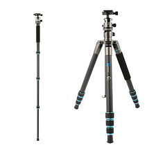 B674C Professional Carbon Fiber Tripod Monopod Ball Head for DSLR Camera