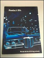 1970 Pontiac 54-page Sales Brochure Catalog - Bonneville Grand Prix LeMans GTO