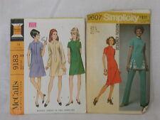 Simplicity & McCall's Dress & Pantsuit Pattern Size 12 Bust 34