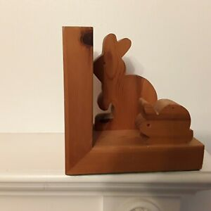Wooden rabbit bookend children ornament sculpture home Decor Modern wood