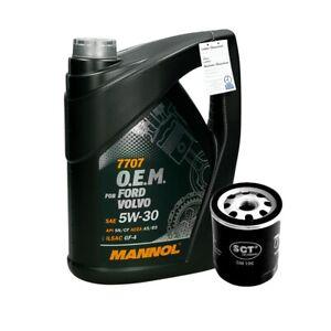 5L 5W30 Mannol 7707 O.E.M. Motoröl + Ölfilter Motorölfilter Filter Höhe: 93mm