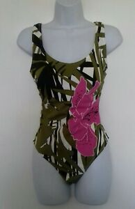 Sielei Bold Print Swimsuit  Swimming Costume Foam cups 36C