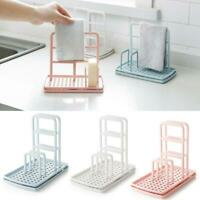 Kitchen Organizer Clean Sponge Dishcloth Drain Rack Dry Holder Storage Shelf
