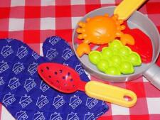 Childrens play food lot making seafood crab fish peas oven mitt frying pan more