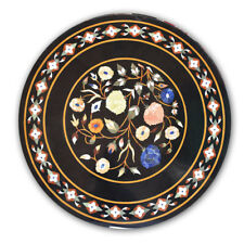 "36"" Round Marble coffee center Table Top Handmade Pietra Dura patio  Decor"