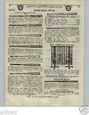 1924 Paper Ad H&B Louisville Slugger Decal Baseball Bat Store Display Rack Stand