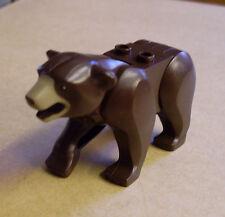 Lego Figur Tiere Dark Brown Bear ( Bär dunkelbraun groß Braunbär ) Neu