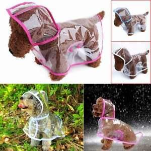 Waterproof Puppy Raincoat  Transparent Pet Rainwear Cloth Dog Rain Poncho  #n