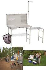 Outdoor Camping Kitchen Table Camp Portable Folding Sink Prep Cooking  Storage