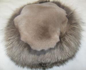 Max Mara The Cube Fur Hat, size 57