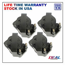 Set of 4 New Ignition Spark Coils on Plug Packs For Chevy Oldsmobile Cadillac V8