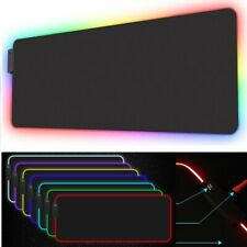 """31"""" RGB LED Gaming Mouse Pad Desk Mat Extended Anti-slip Rubber Speed Mousepad"""