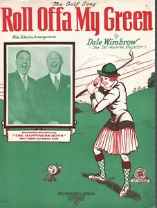 Roll Offa My Green (The Golf Song) 1928 The Happiness Boys Sheet Music