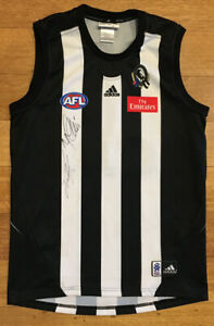 AFL Collingwood Magpies Adidas Football Jumper Guernsey Youth Boys Girls Size 16