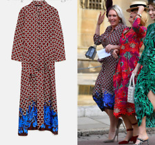 ZARA GEOMETRIC PRINT LONG TUNIC DRESS KLEID BLUSENKLEID MAXI SIZE S