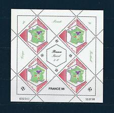 - Monaco  feuillet  coupe du monde de football  1998  num: 2163 **
