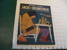 vintage JACK & the BEANSTALK cut out coloring book, 1955, one page colored