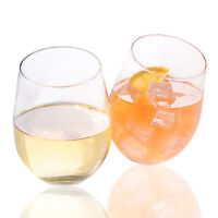 4 Pack Glass Stemless Wine Glasses - 18 Oz. Glass Stemless Glass set
