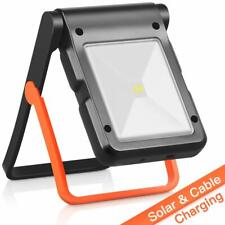 LED Work Light Solar Powered & USB Rechargeable 360°Adjustable 2 Modes - NEW