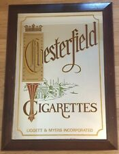 More details for vintage tobacco advertising pub mirror - chesterfield cigarettes - 93 x 68cm -