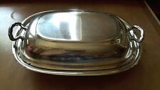 Reed & Barton Mayflower Silverplate Covered Serving Dish #5001 Vintage